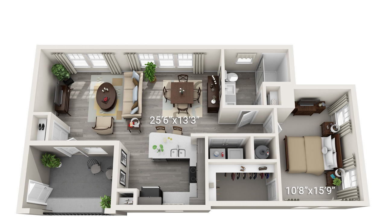 1 Bedroom 1 Bath A3 (Phase 2)
