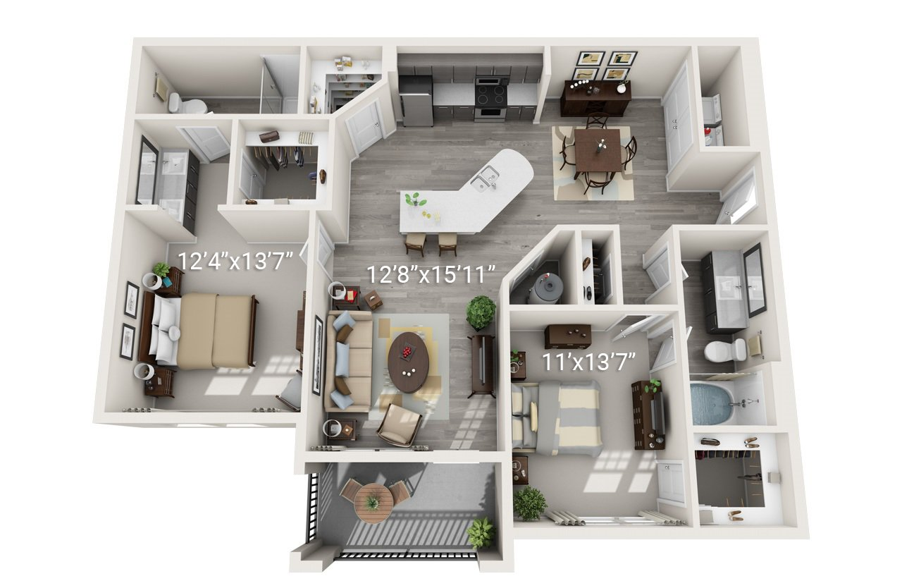 2 Bedroom 2 Bath B2 (Phase 2)