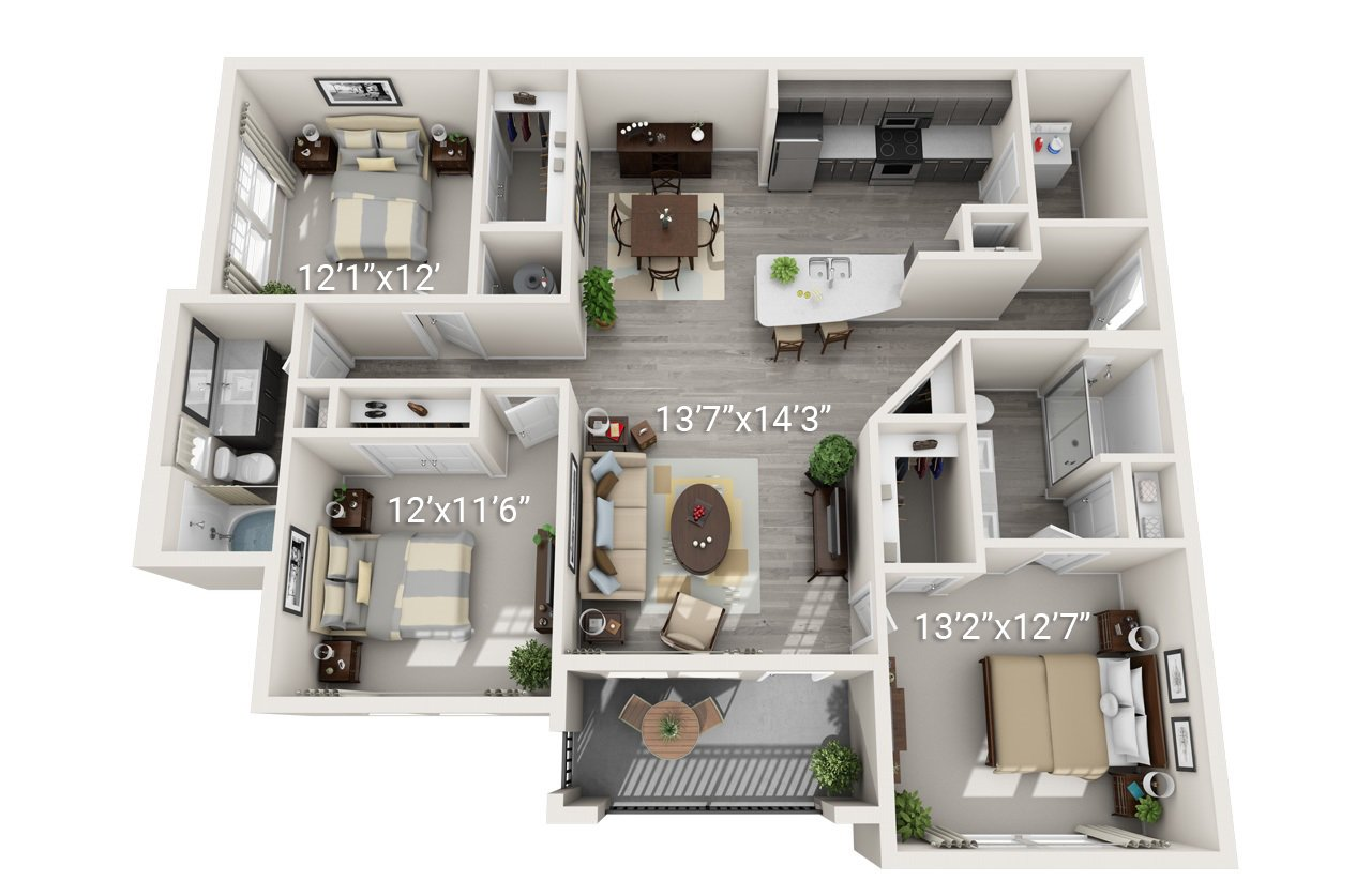 3 Bedroom 2 Bath C1 (Phase 2)