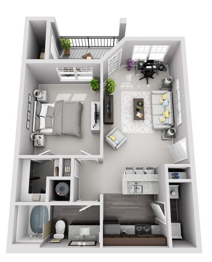 Signature Series: 1 Bedroom 1 Bath (A1S)