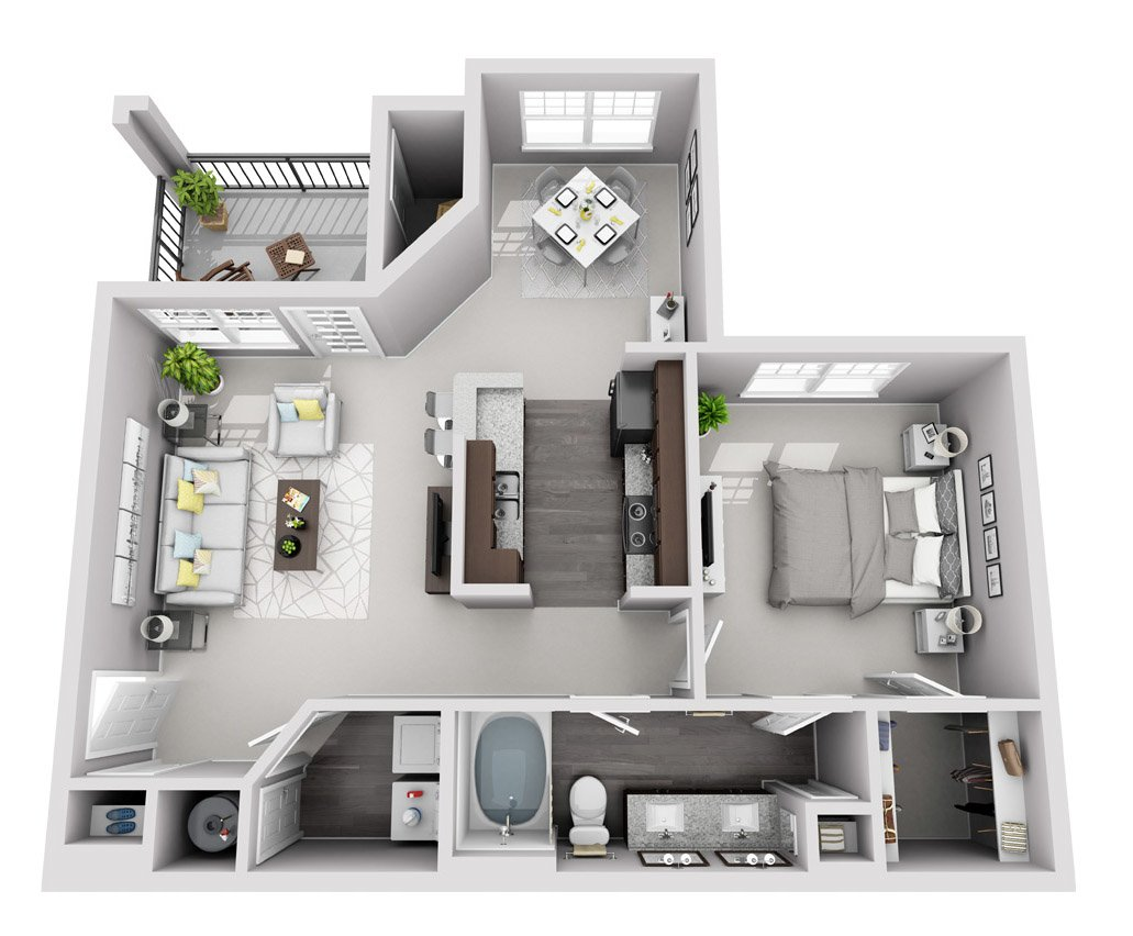 Signature Series: 1 Bedroom 1 Bath (A2S)
