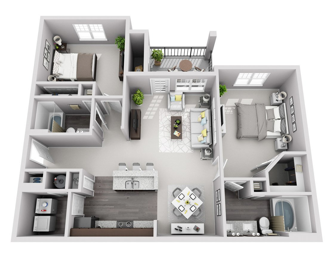 Signature Series: 2 Bedroom 2 Bath (B1S)