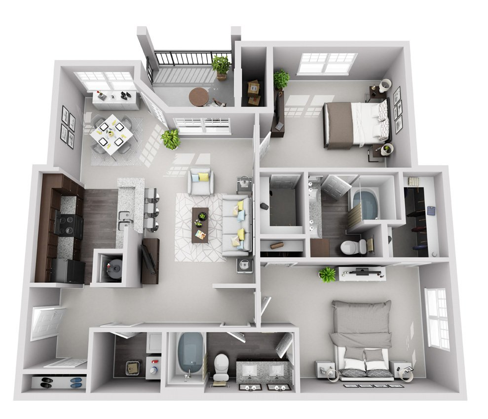 Signature Series: 2 Bedroom 2 Bath (B2S)
