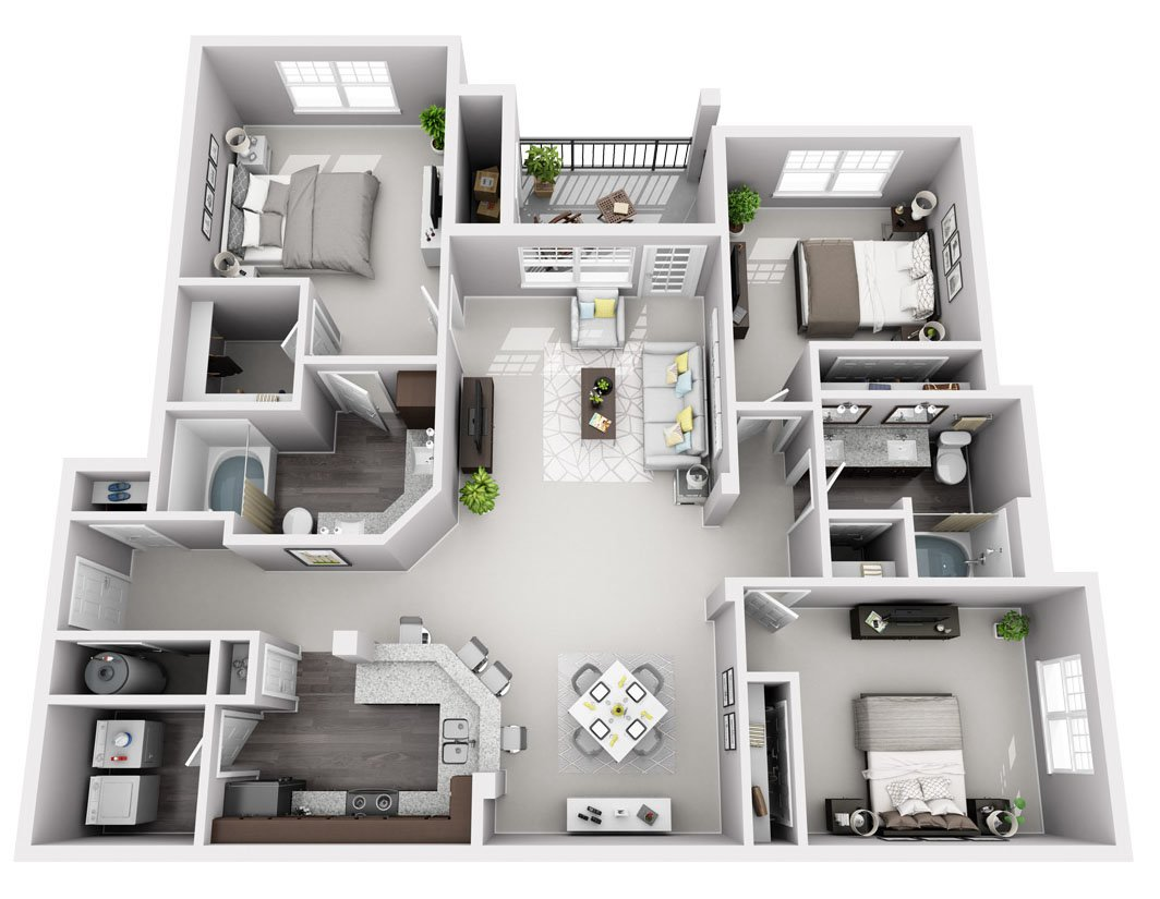Signature Series: 3 Bedroom 2 Bath (C1S)
