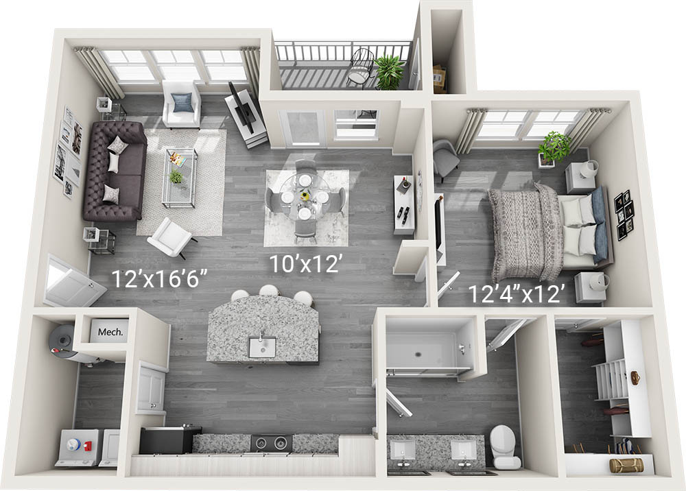 1 Bedroom 1 Bath A2-2<br><h3>New Construction!</h3>