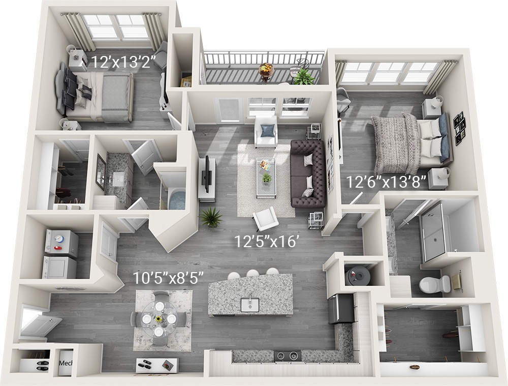 2 Bedroom 2 Bath B1-2<BR><h3>New Construction!</h3>