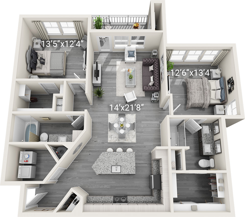 2 Bedroom 2 Bath B2-2<br><h3>New Construction!</h3>